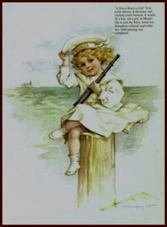 Amazon.com: A Naval Reserve Girl by Maud Humphrey Art Print (1898 / 1993) , Size: 8.1/2 X 11 Inches: Home & Kitchen