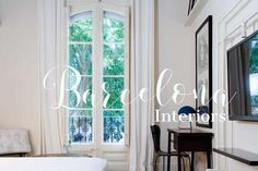Barcelona interiors, balcony. Catalan Modernist architecture.