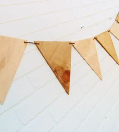 Plywood Bunting Banner | Home Decor