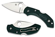 Spyderco C28PGRE2 Dragonfly 2 PlainEdge Knife (British Racing Green *** You can find out more details at the link of the image.