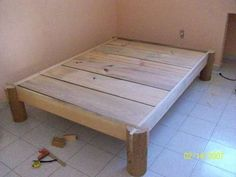 Nail-less, Glue-less Almost Screw-less Fire Finished Bed