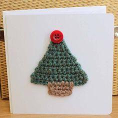 button crochet card