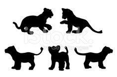 lion cub silhouette clip art - Google Search