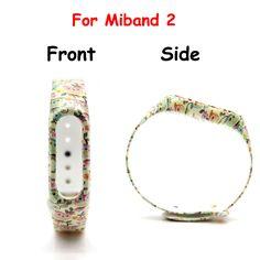 1pcs Blue Flower Wristband  for Xiaomi Mi Band 2 Strap Smart Wristband for Mi band 2 Bracelet  Band