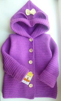Crochet Baby Sweater Pattern, Baby Sweater Patterns, Crochet Cardigan, Knitting Patterns, Crochet Patterns, Crochet Baby Clothes, Chrochet, Baby Sweaters, Baby Knitting