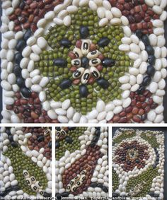 craft ideas with beans | reversed the red beans and mung beans for the second round as an ...