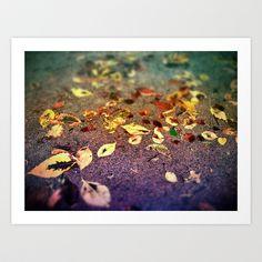 Wet Leaves Art Print by Sid Pena - $20.00
