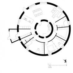 Villa Nyberg   passive house  clock diagram plan