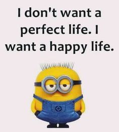 Not perfect, just happy!