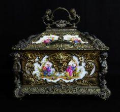 Victorian KPM Porcelain Gilded Bronze Box