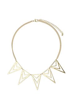 Diamond Cut Out Necklace - Jewelry - Bags & Accessories Jewelry Shop, Gold Jewelry, Jewelry Necklaces, Women Jewelry, Jewellery, Gold Necklace, Coachella Looks, Diamond Cuts, Fashion Styles