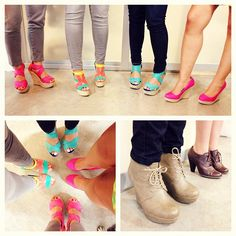 Sema's Shoes at Work   #shoes #colors #fashion #spring #wedges #platforms #style #work  #women #dominican #store #boots