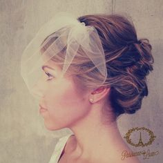 MARIE SMALL birdcage veil bird cage veil by ParisienneLuxe