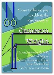 Birthday Invitation for a Gymnastics Party