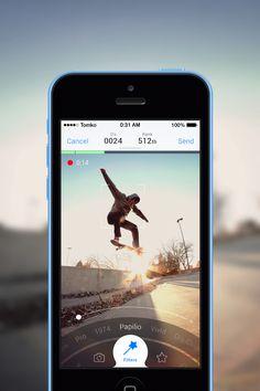Camera App / Old Work by Igor Tomko Mobile Application Design, Mobile Ui Design, Ui Ux Design, Moodboard App, Movement Photography, Iphone App Design, Ui Design Inspiration, App Ui, Interactive Design