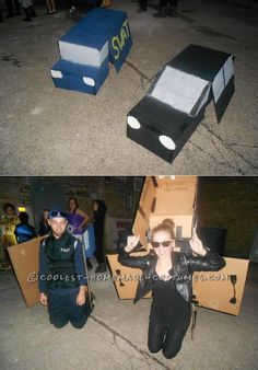 Transforming Cop and Robber Transformers Costumes... This website is the Pinterest of costumes