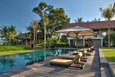 Bali Villa Photography - pool area day time