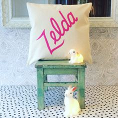 Personalised Gifts Ideas : custom name cushion