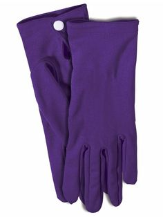 Halloween Purple Gloves Adult