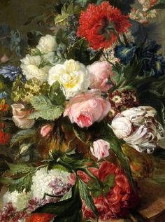 1789Harmanus Uppink(Dutch, 1753-1798)~ Still Life with Flowers