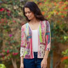 Paisley Silk and Cashmere-Blend Cardigan
