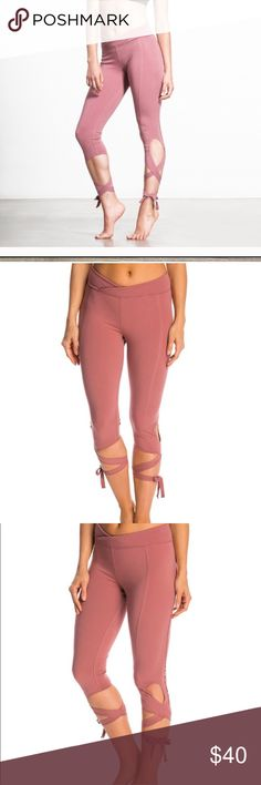 Free People Movement Mauve wrap leggings Worn once! Perfect condition! Free People Pants Leggings