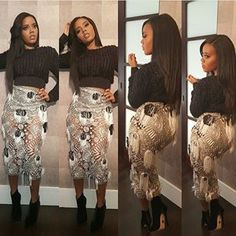 #repost from @angelasimmons  #angelasimmons #slayed #fashion #couture #nyfw2015 #celebrities #style #instafashion #instastyle #baltimoreblogger #igers #igdaily