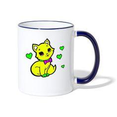 Geschenke Shop   Herzige Katze - Tasse zweifarbig Shirt Diy, Snoopy, Mugs, Tableware, Character, Art, Cat Art, Coffee Cups, Tea Cups