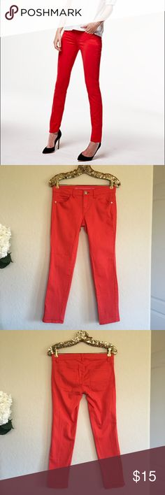 Tinsel Town Denim Couture Red Jeans These Tinsel Town Denim Couture red jeans are in great condition and great for all seasons!  🚭 From a smoke-free home ❌ No trades or off PoshMark sales 🛍 Bundles welcome and encouraged 👌🏻 Reasonable offers welcome ⚡️ Same/next day shipping 🌬 All items are steamed before shipping Tinseltown Jeans