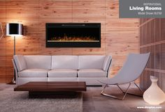 Living room Synergy WALL-MOUNTS - The Synergy is a fireplace like no other. The large 50 inch width viewing area, attractive black finish, incredible patented flame technology and beautiful glass ember bed makes this fireplace a must have for any home.  The Synergy wall mount fireplace offers comfort, ambiance and style and is sure to be the most talked about piece in any room.