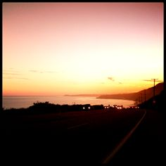 Now THAT makes for a serene commute... #Malibu #sunset #PCH #commute #ocean #drive #pacificcoasthighway