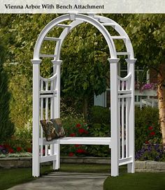 Awesome Features:  Perfect Arbor For Cozy Bench.  Creates A Focal Point In Your  Garden Or Yard.  Great Solution For Training Climbing Flowers.