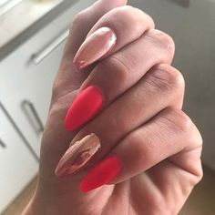 Pink and Chrome for Matte Nail Designs for Fall