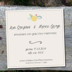 Partecipazione di nozze di AzzurroPastello Comprala su Etsy Buy on etsy