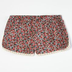 FULL TILT Ditsy Print Girls Crochet Trim Shorts #tillys #girls #fulltilt
