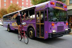 For a zany, moving comedy tour of Asheville, ride the LaZoom purple bus that starts in downtown, including beer and haunted tours with plenty of laughs. Asheville North Carolina, Western North Carolina, North Carolina Mountains, Nc Mountains, Blue Ridge Mountains, Asheville Things To Do, Romantic Asheville, Kids Comedy, Comedy Skits
