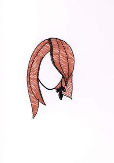 Zrzka+Hlavička, - paličkovaná krajka, bobbin lace, autor: Lenka Maslova Spetlova, Hostinné, Atelier ROS ZEFYRA s.r.o.