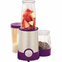 BELLA 12 Piece Rocket Blender, Stainless Steel and Black, Perfect for Smoothies & Health Drinks, Grinding, Chopping & Food Prep Specialty Appliances, Small Appliances, Kitchen Appliances, Rocket Blender, Mixer, Best Food Processor, Purple Kitchen, Red Kitchen, Kitchen Items