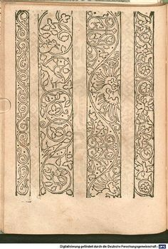 Border Embroidery Designs, Embroidery Flowers Pattern, Pattern Art, Pattern Design, Medieval Pattern, Medieval Embroidery, Blackwork Embroidery, Turkish Art, Medieval Clothing