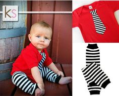 Red Tie Onesie matching leg warmers - Easter Set, Wedding children, baby clothing 0-3, 3-6, 6-12 and 12-18month  long or short sleeves on Etsy, $22.50