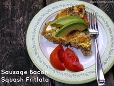 Simple Supper Friday: Sausage Bacon Squash Frittata