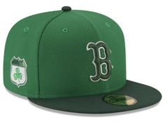 62016c44b438 casquettes · Boston Red Sox New Era 2017 MLB On-Field St. Patrick s Day  59FIFTY Cap