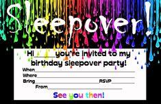 Cool Teen Invites