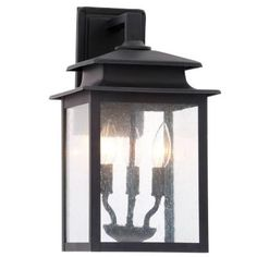 "$69.97 16"" World Imports Sutton Collection 3-Light Rust Outdoor Wall Sconce-WI910642 - The Home Depot"