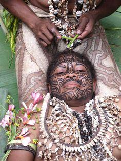 Papua New Guinea--Tattooing - Tufi (Oro Province), Morobe