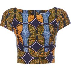 African Print Crop Top | My Asho Market (945.195 VND) ❤ liked on Polyvore…