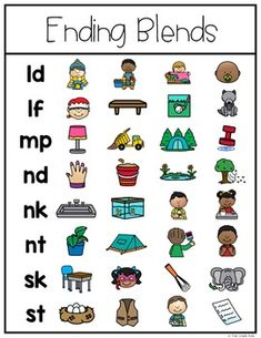Ending Blends Interactive Activities.  Get anchor charts, centers, printables, games, & more! $