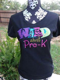 WILD about PreK KINDERGARTEN 1st Grade by EmbroideryByStacie, $28.00