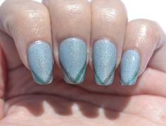 OMD2 challenge (holographic): tape mani with ellagee Trenzalore, ellagee Boo, You Whore!, and Girly Bits D!ck in a Box