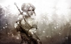 Ciri - The Witcher on Behance